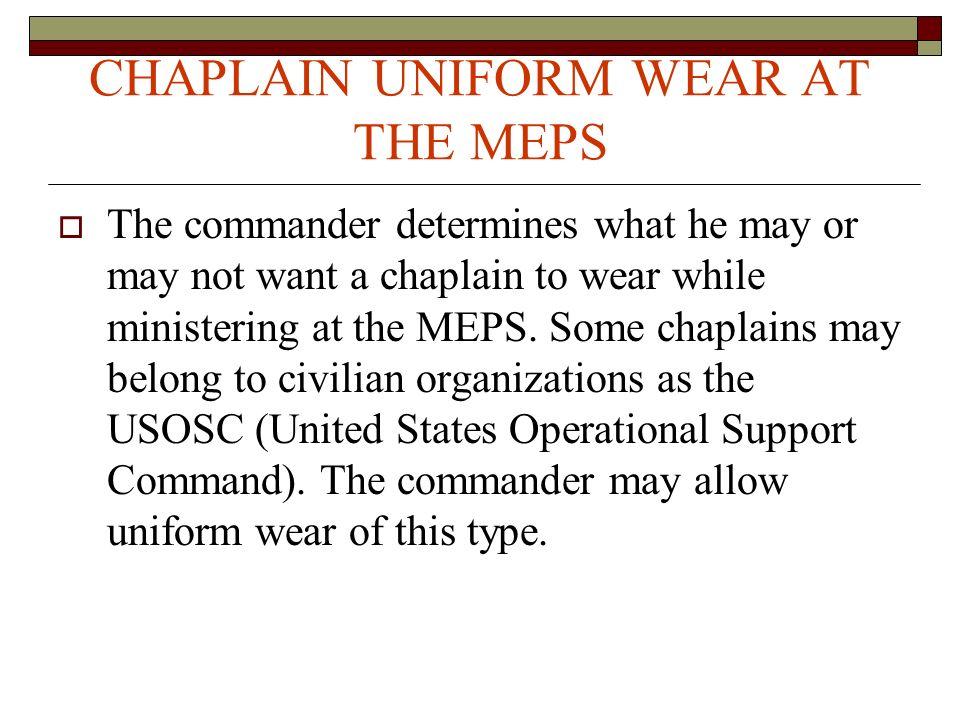 MEPS VOLUNTEER CHAPLAIN MINISTRY - ppt video online download