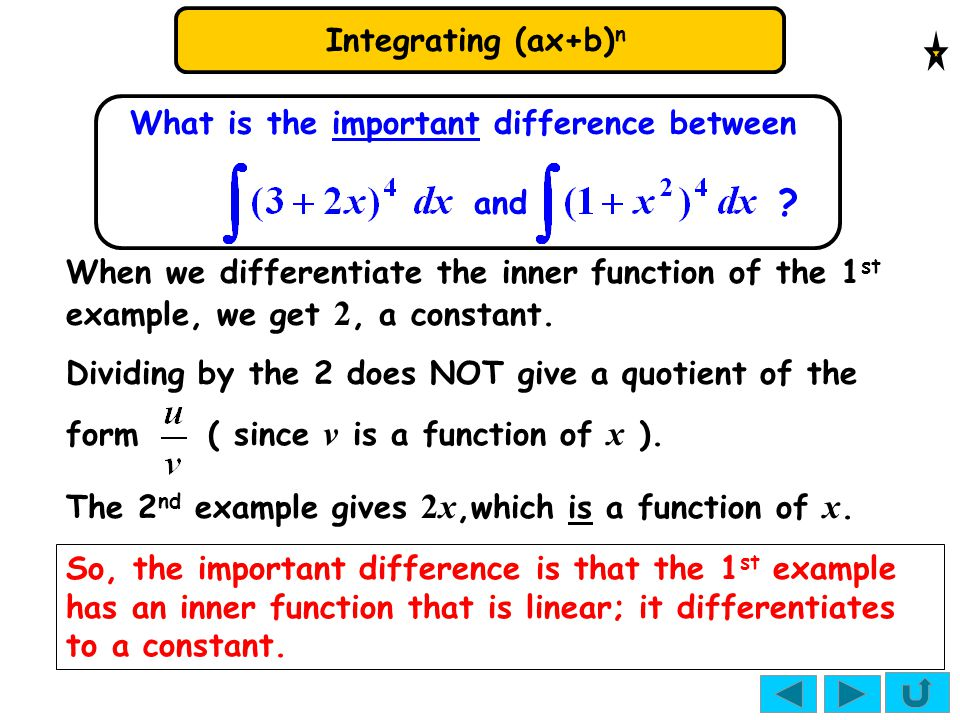 What is the important difference between and