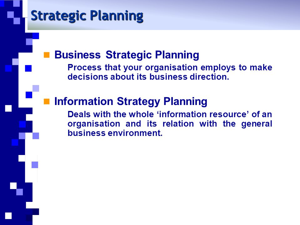 Strategic Planning Business Strategic Planning