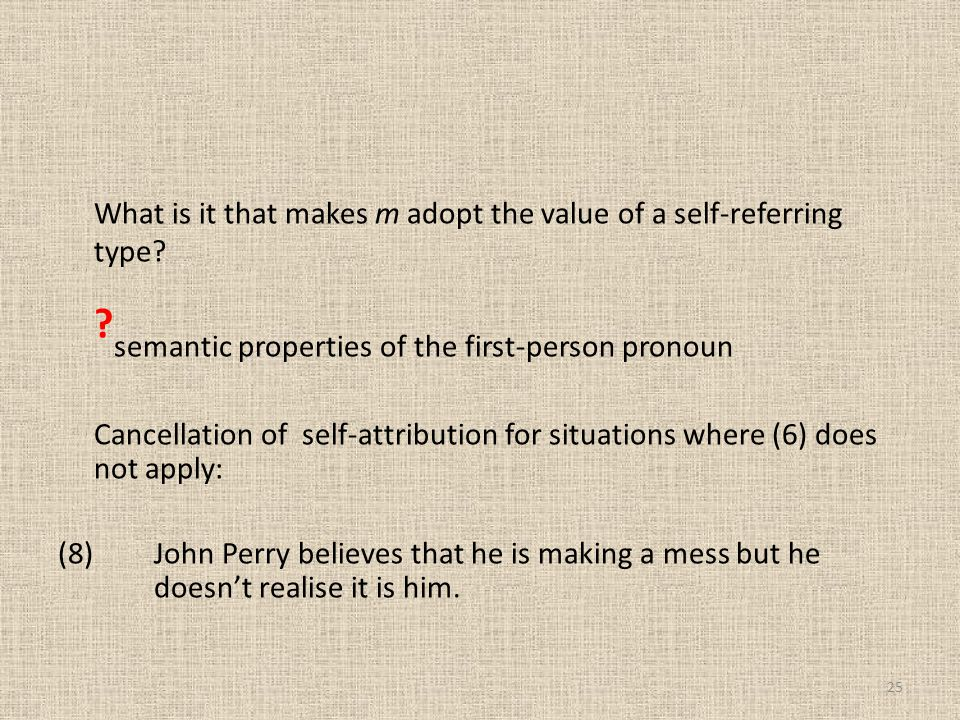 What is it that makes m adopt the value of a self-referring type