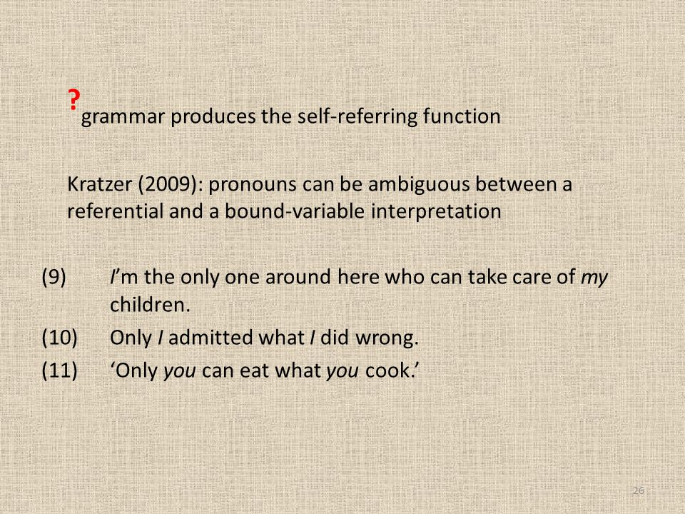 grammar produces the self-referring function