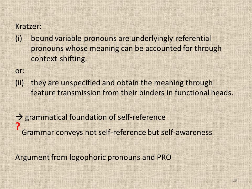 Grammar conveys not self-reference but self-awareness
