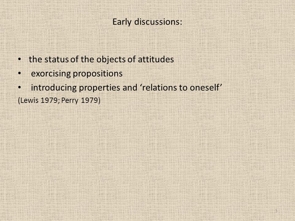 the status of the objects of attitudes exorcising propositions