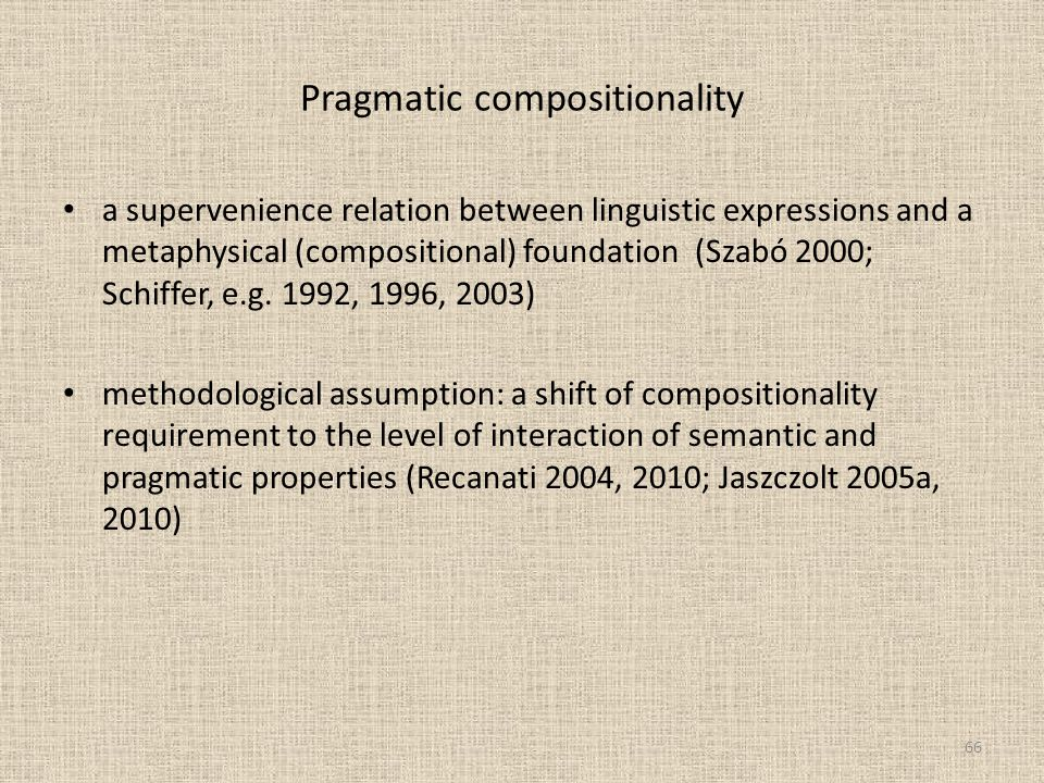 Pragmatic compositionality