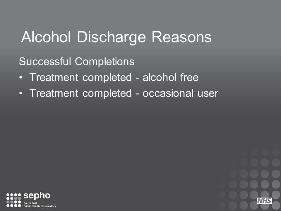 Alcohol Discharge Reasons
