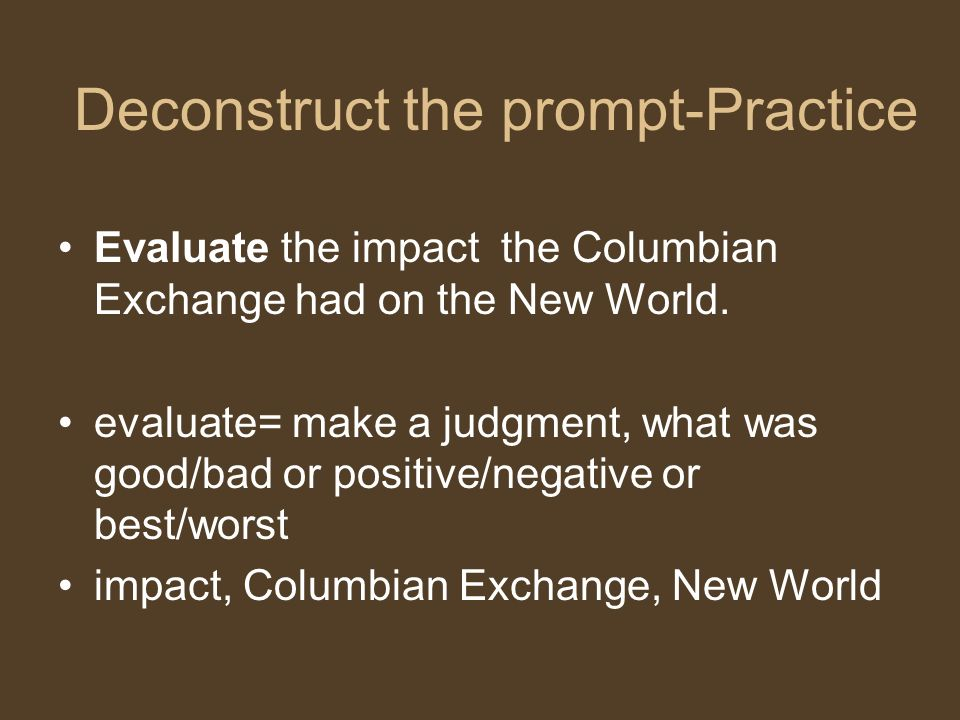 Deconstruct the prompt-Practice