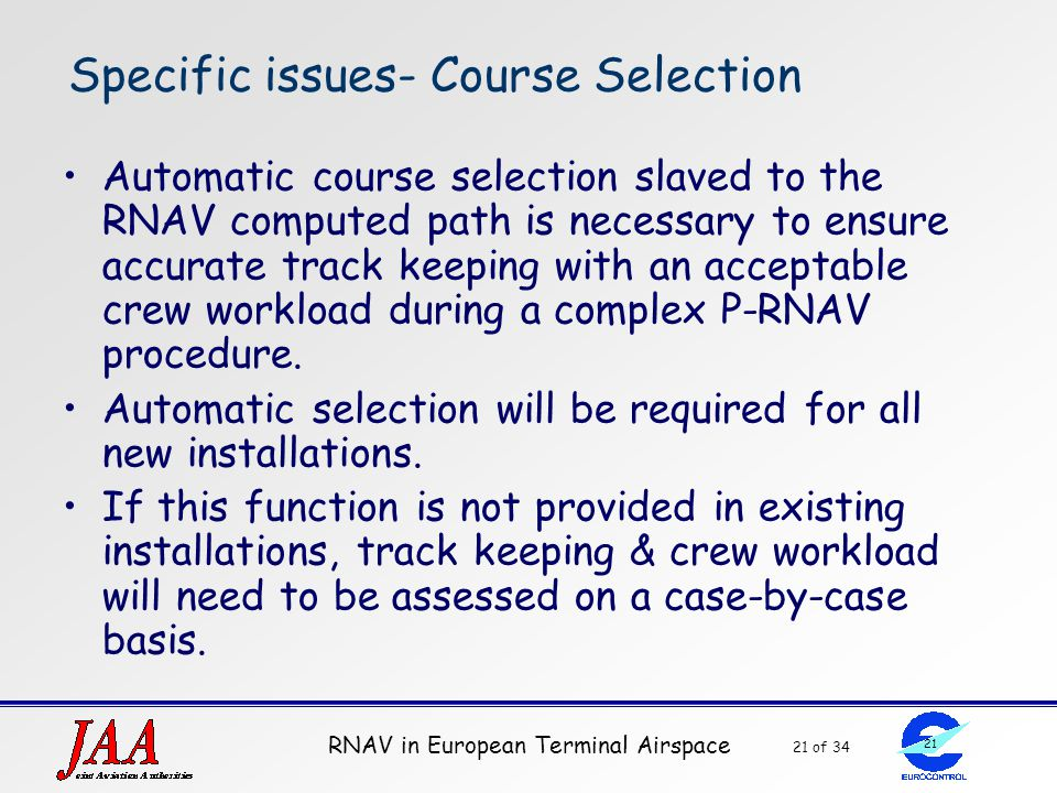 Specific issues- Course Selection
