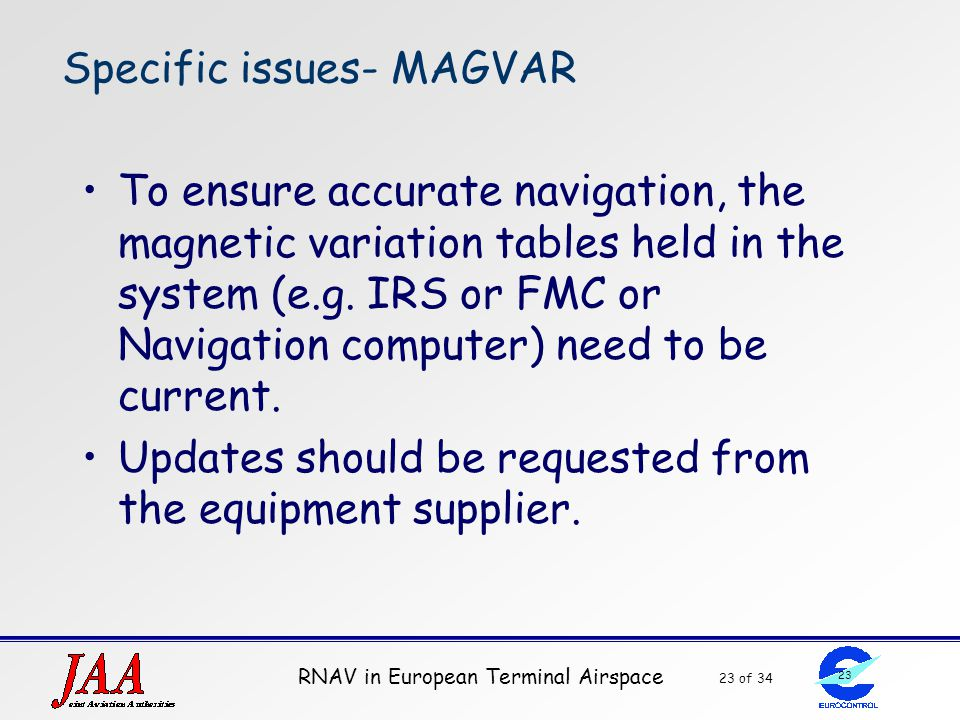 Specific issues- MAGVAR