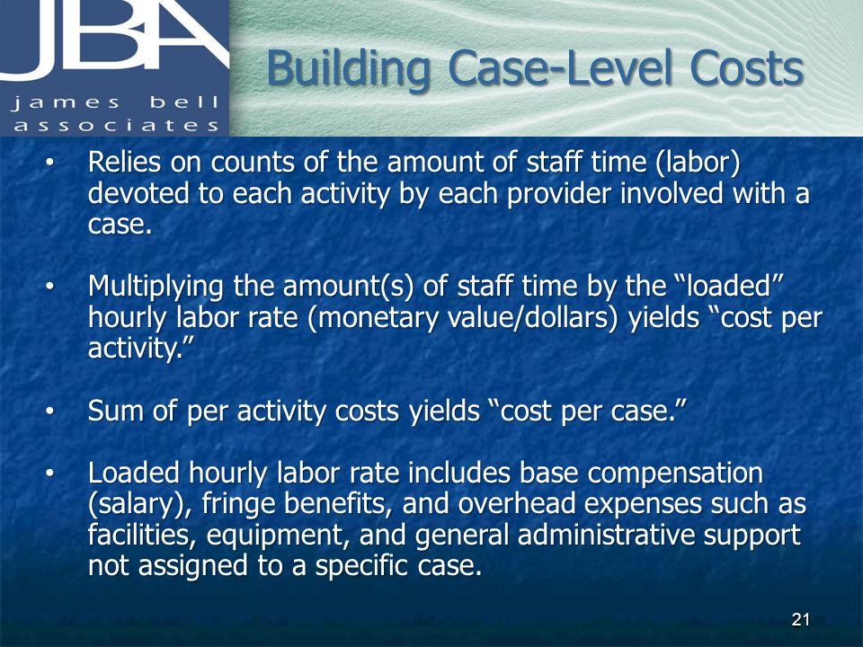 Building Case-Level Costs