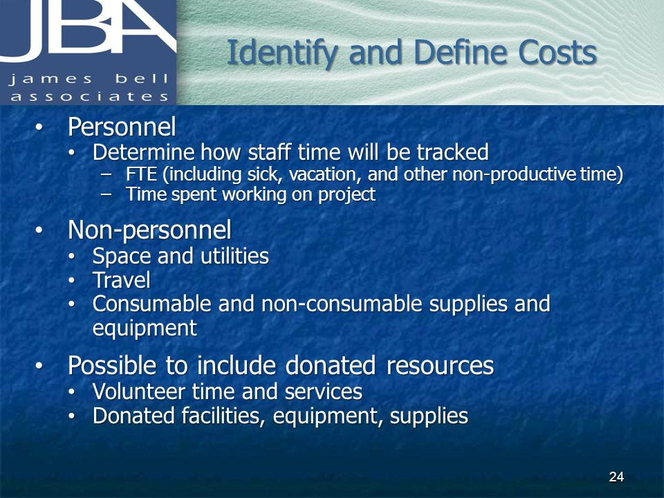 Identify and Define Costs