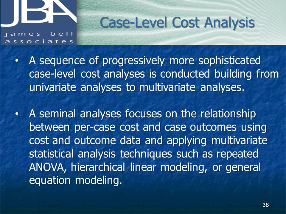 Case-Level Cost Analysis