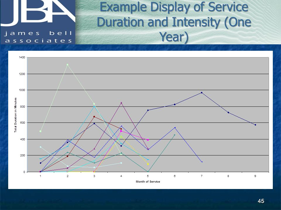 Example Display of Service Duration and Intensity (One Year)