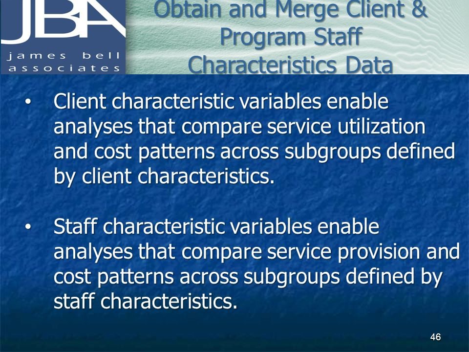 Obtain and Merge Client & Program Staff Characteristics Data