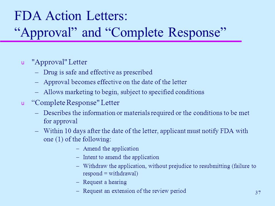 fda complete response letter fda overview protecting consumers promoting 21687 | FDA Action Letters%3A Approval and Complete Response