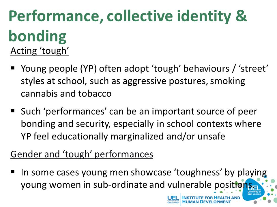 Performance, collective identity & bonding