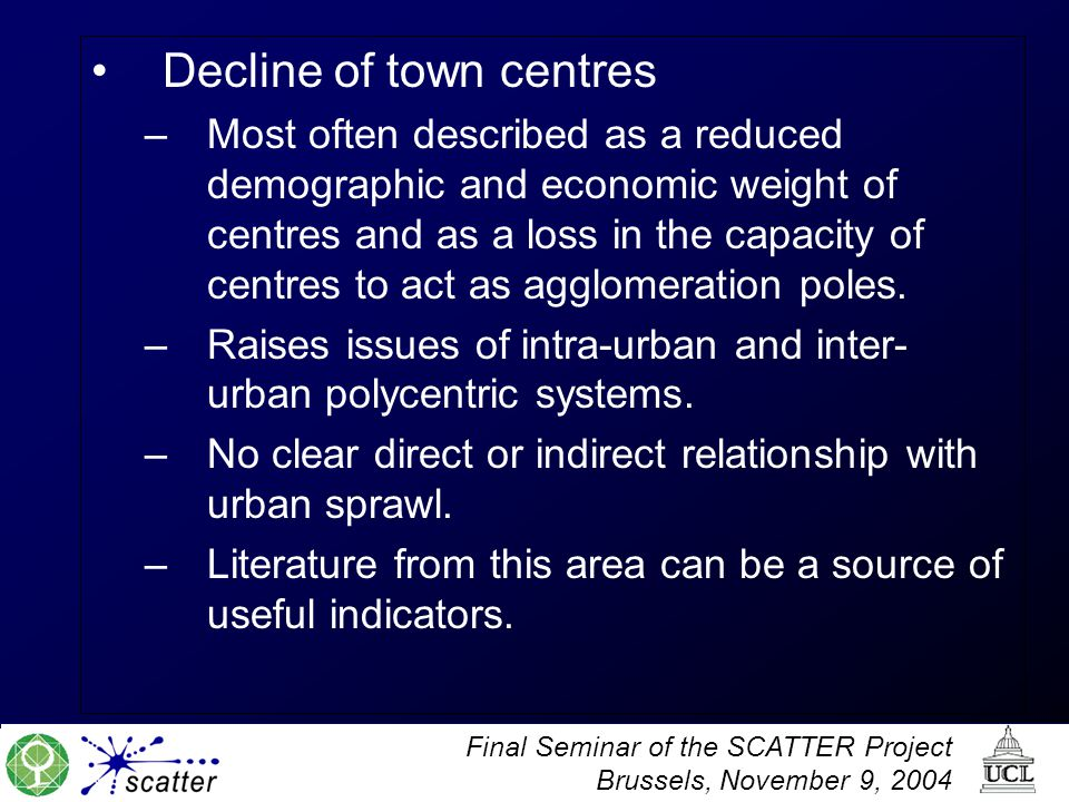 Decline of town centres