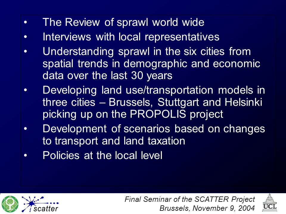The Review of sprawl world wide