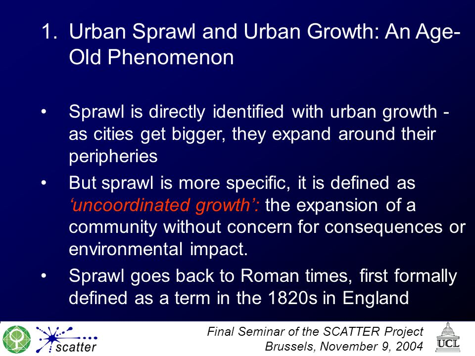 Urban Sprawl and Urban Growth: An Age-Old Phenomenon