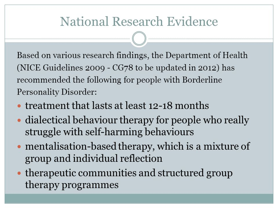 National Research Evidence