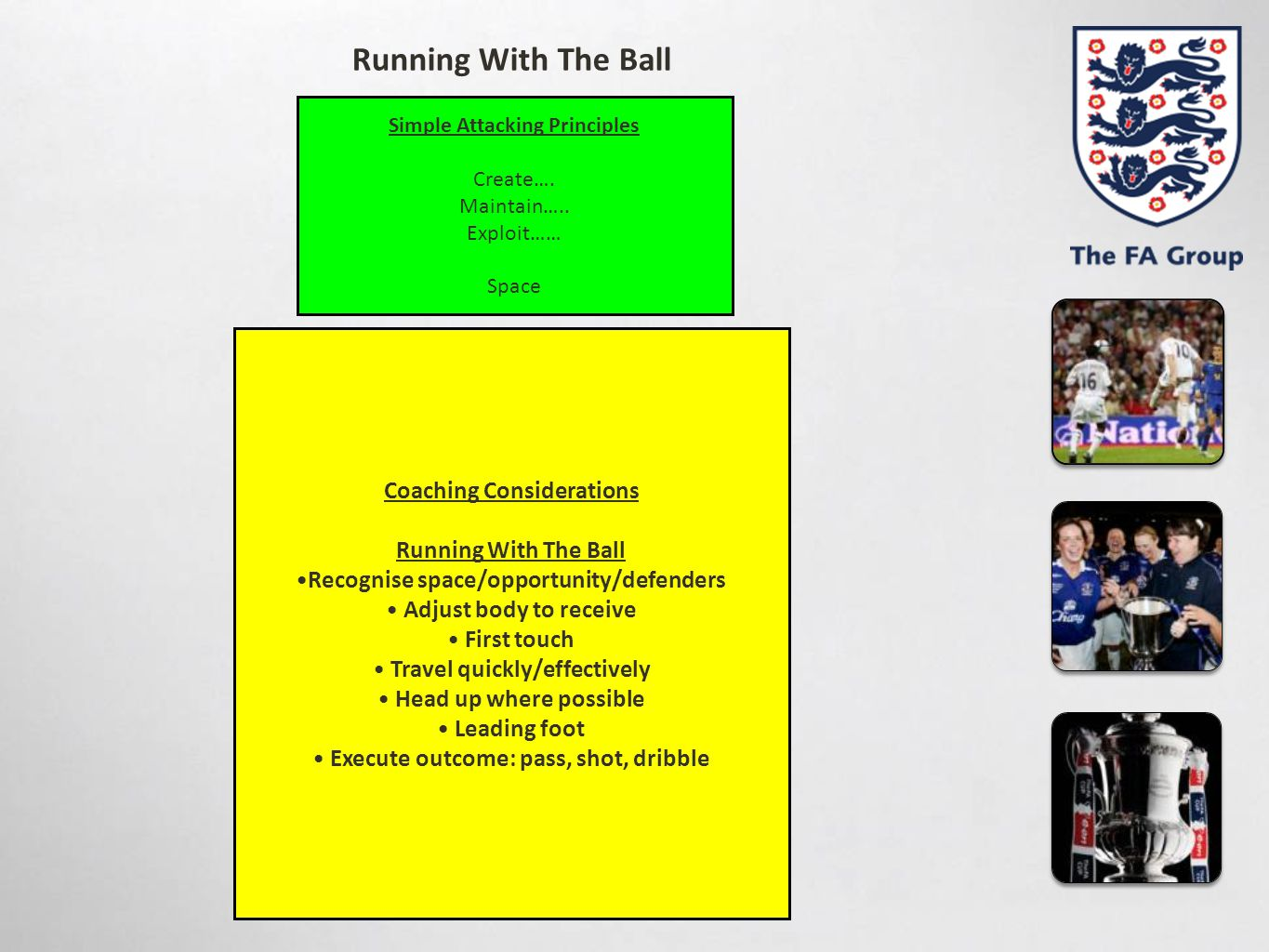 Running With The Ball Coaching Considerations Running With The Ball
