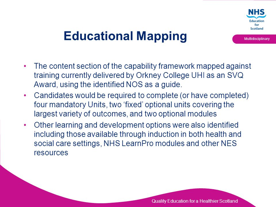 Educational Mapping