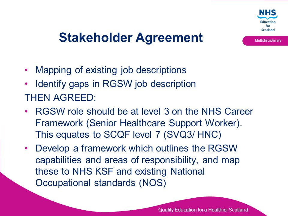 Stakeholder Agreement