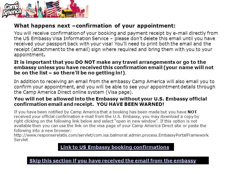 These instructions are for Camp America participants who are