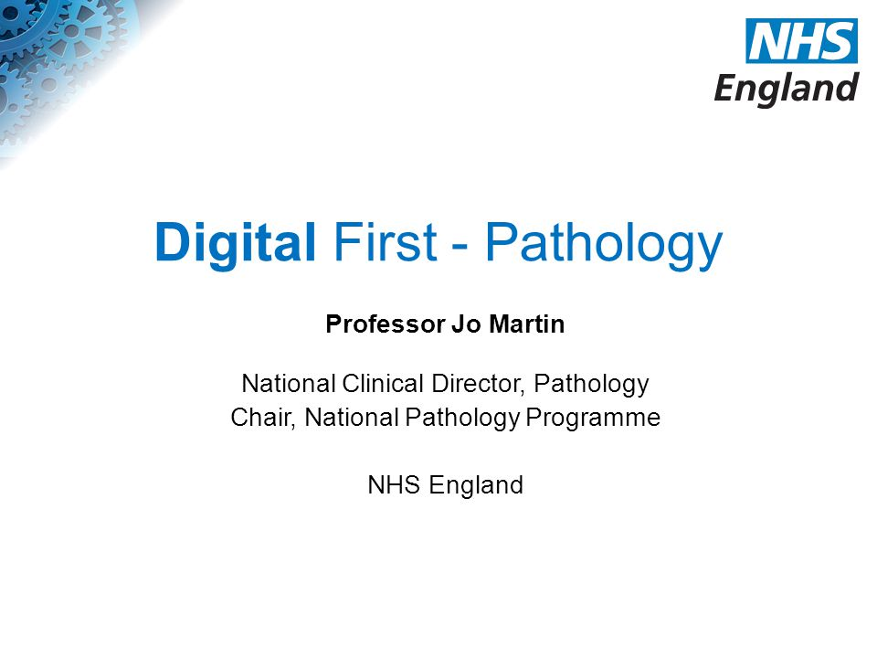 Digital First - Pathology