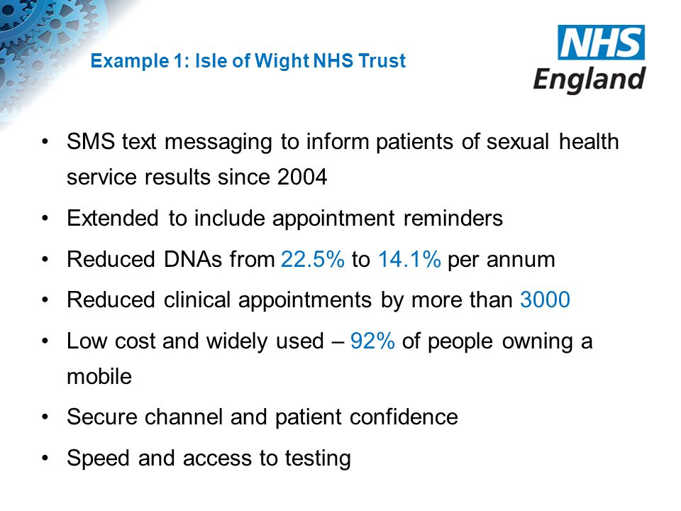 Example 1: Isle of Wight NHS Trust