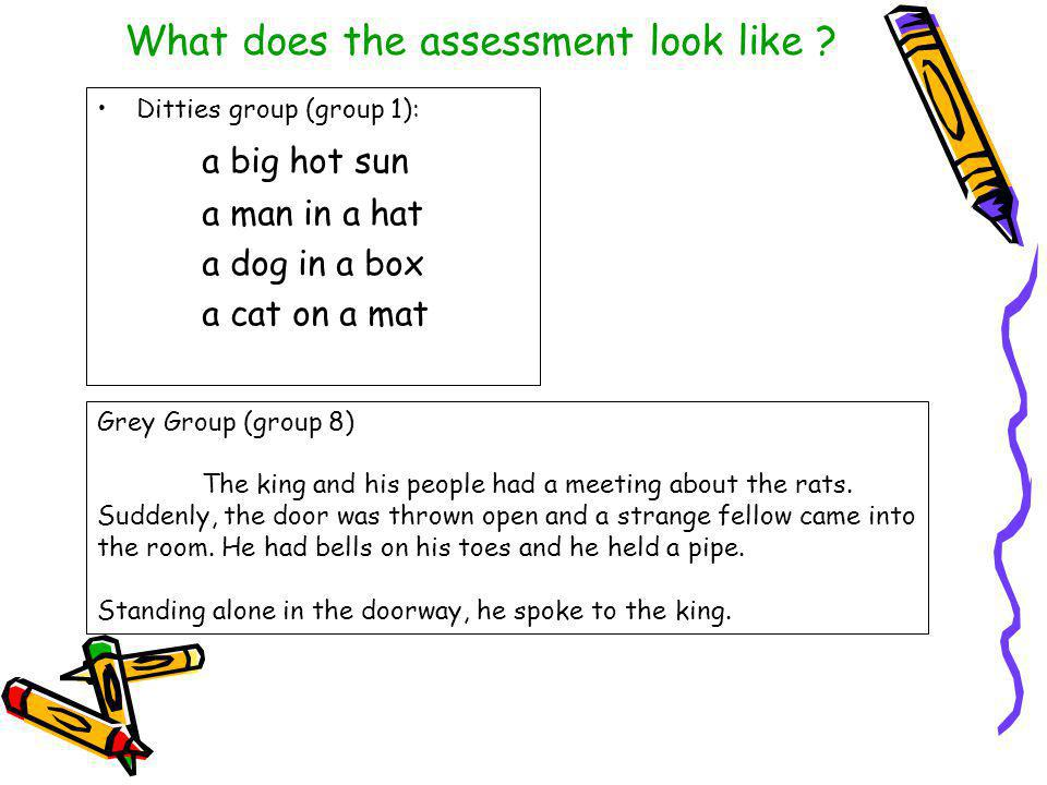 What does the assessment look like