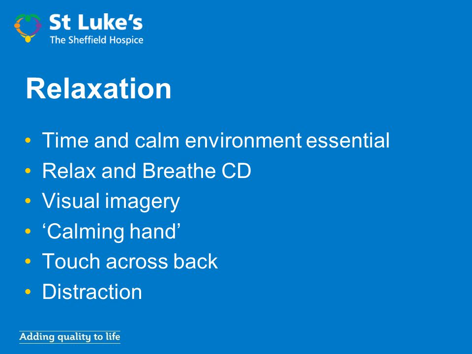 Relaxation Time and calm environment essential Relax and Breathe CD