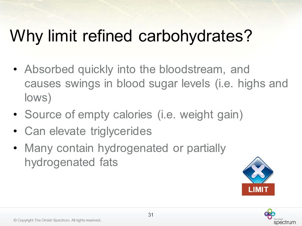 Why limit refined carbohydrates