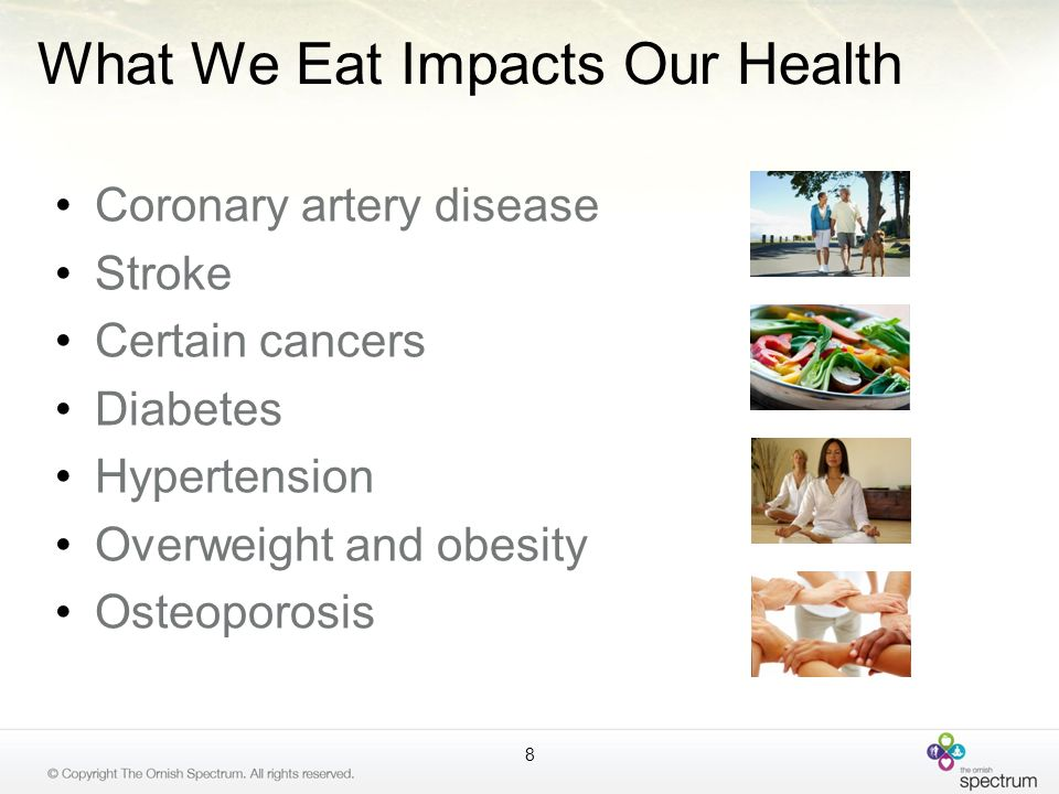 What We Eat Impacts Our Health