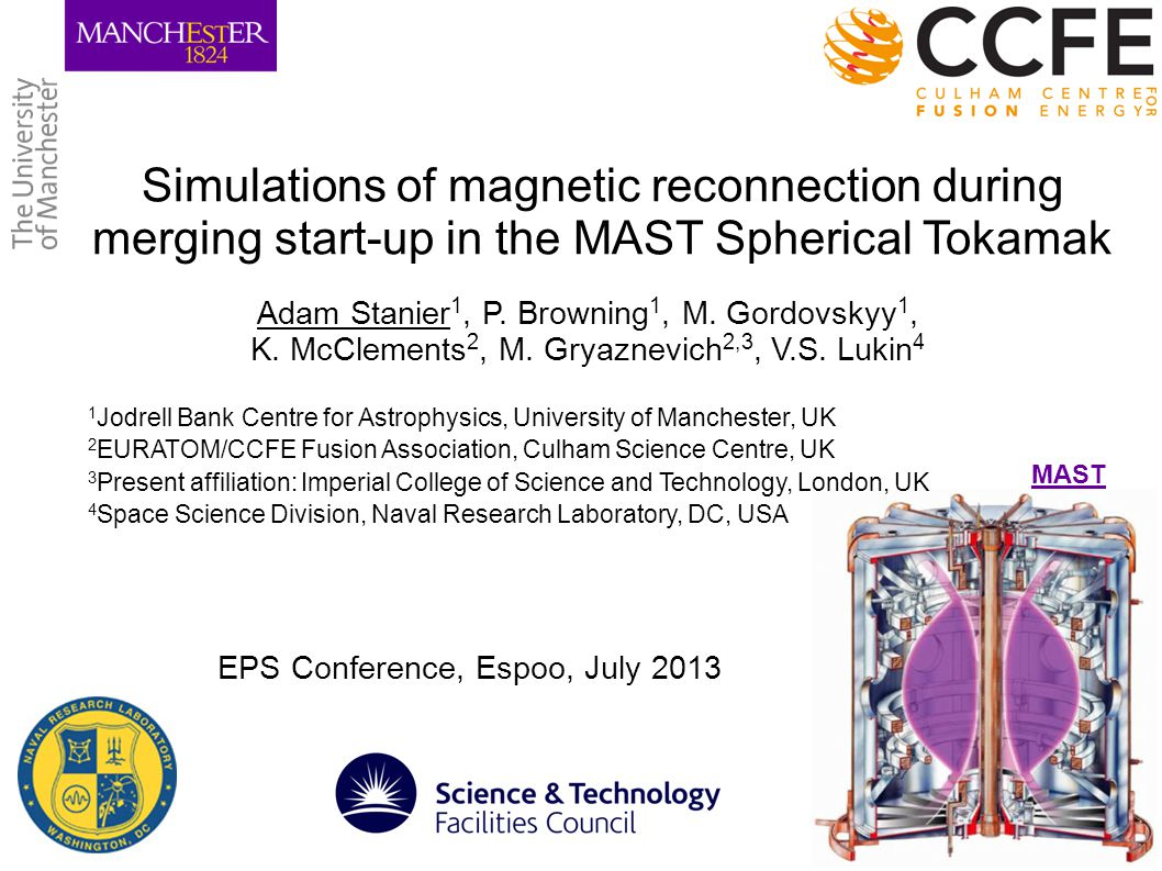 Simulations of magnetic reconnection during merging start-up in the MAST Spherical Tokamak