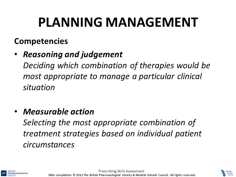 PLANNING MANAGEMENT Competencies