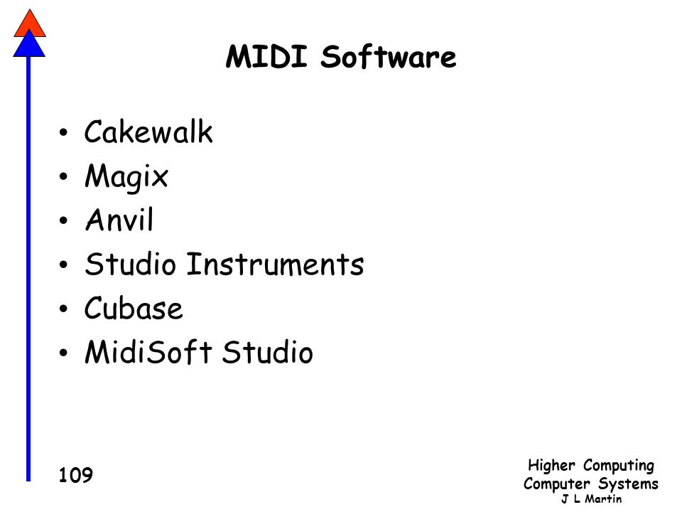 MIDI Software Cakewalk Magix Anvil Studio Instruments Cubase MidiSoft Studio