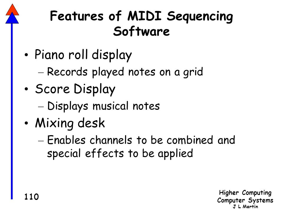 Features of MIDI Sequencing Software