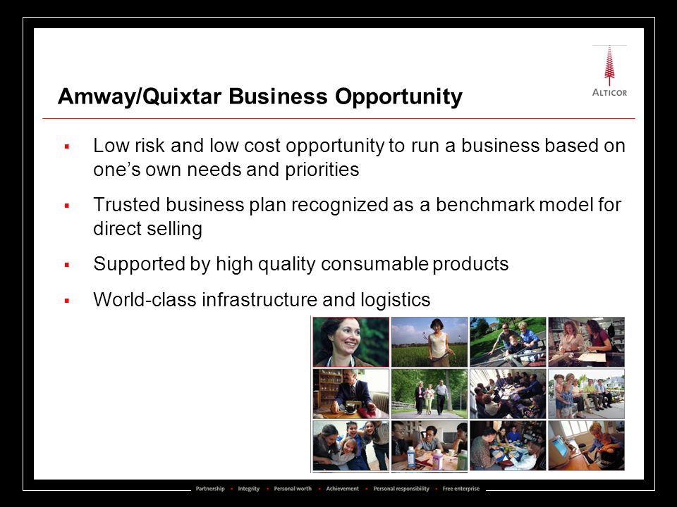Amway/Quixtar Business Opportunity