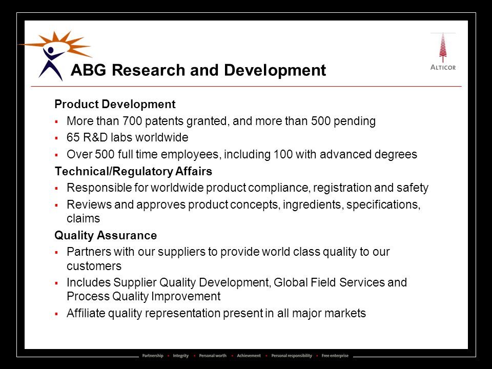 ABG Research and Development