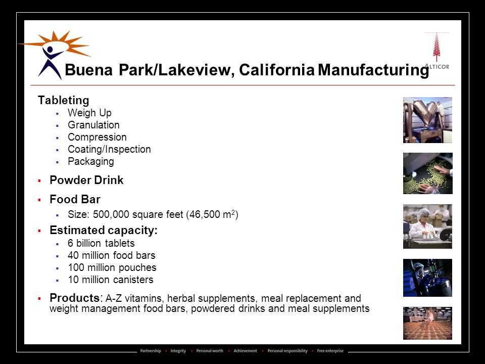 Buena Park/Lakeview, California Manufacturing