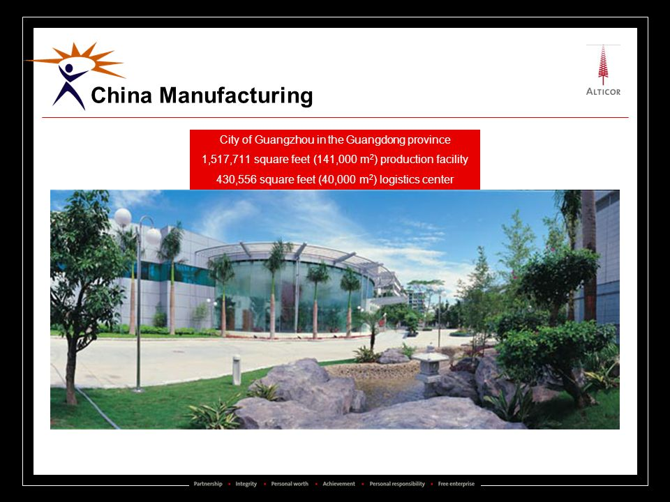 China Manufacturing City of Guangzhou in the Guangdong province