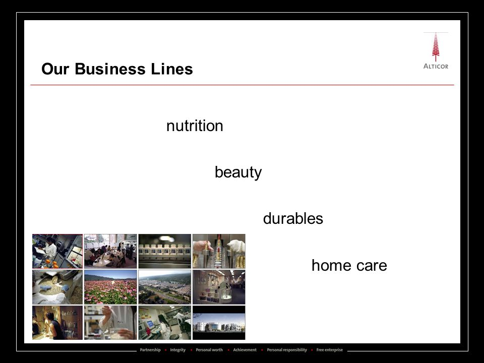 Our Business Lines nutrition beauty durables home care
