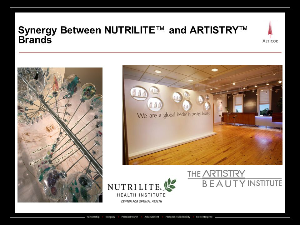 Synergy Between NUTRILITE™ and ARTISTRY™ Brands