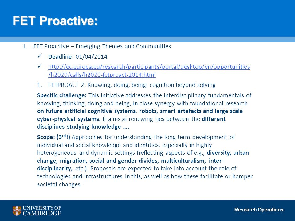 FET Proactive: FET Proactive – Emerging Themes and Communities