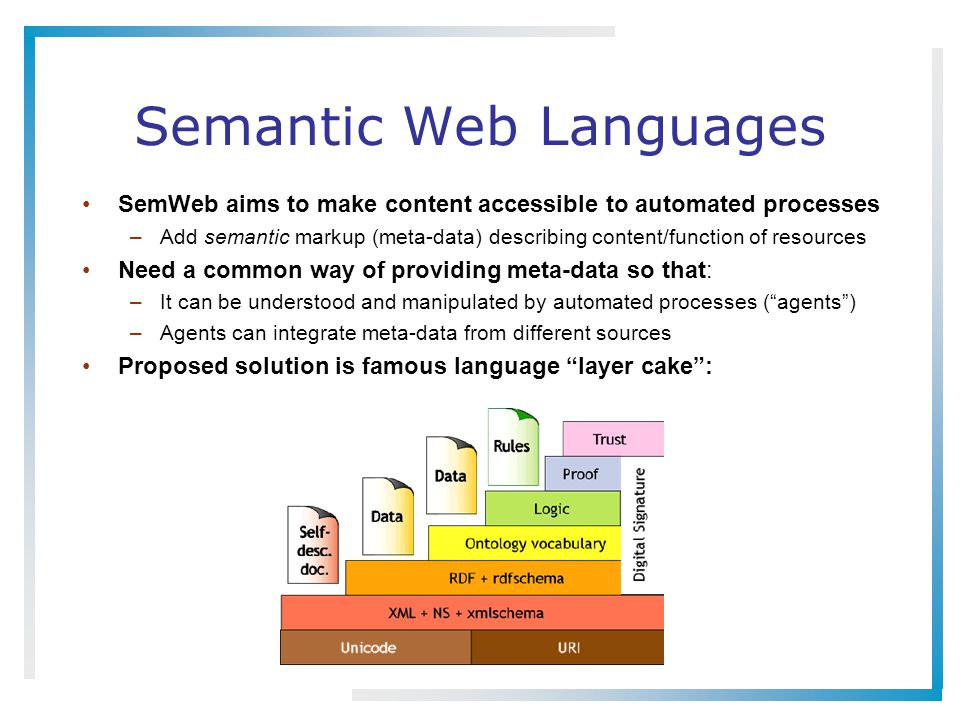 Semantic Web Languages