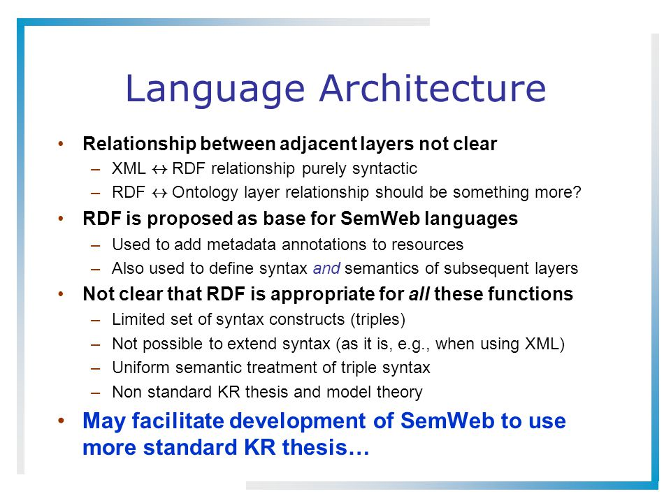 Language Architecture