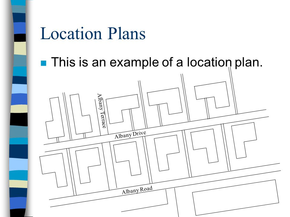 Location Plans This is an example of a location plan. Albany Terrace
