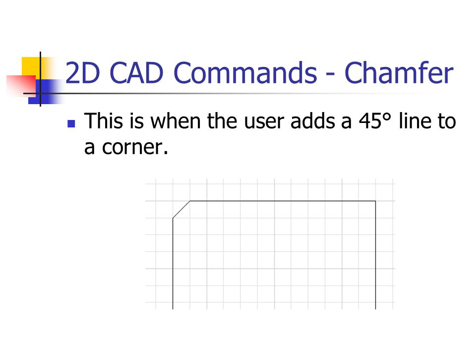 2D CAD Commands - Chamfer