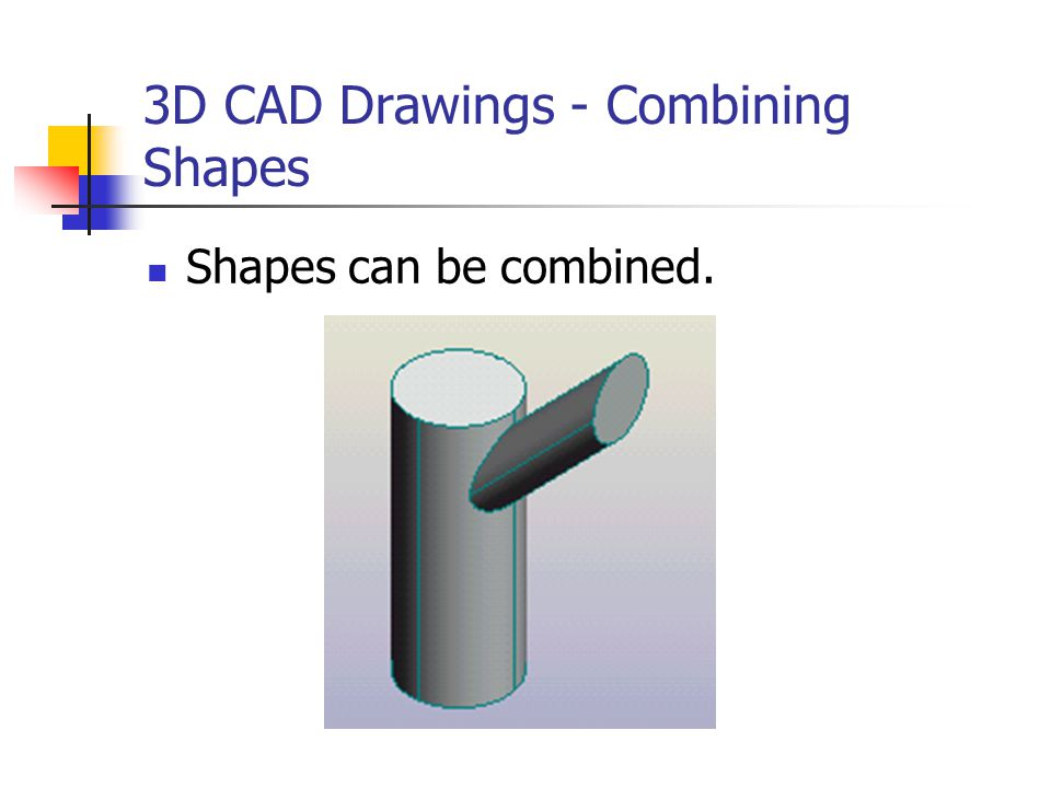 3D CAD Drawings - Combining Shapes