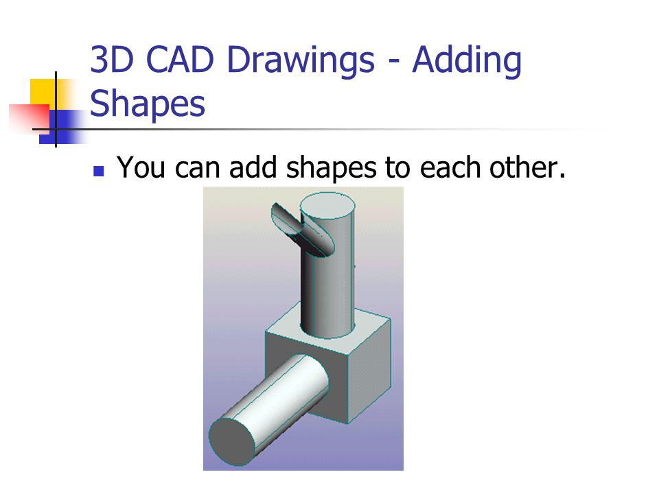 3D CAD Drawings - Adding Shapes
